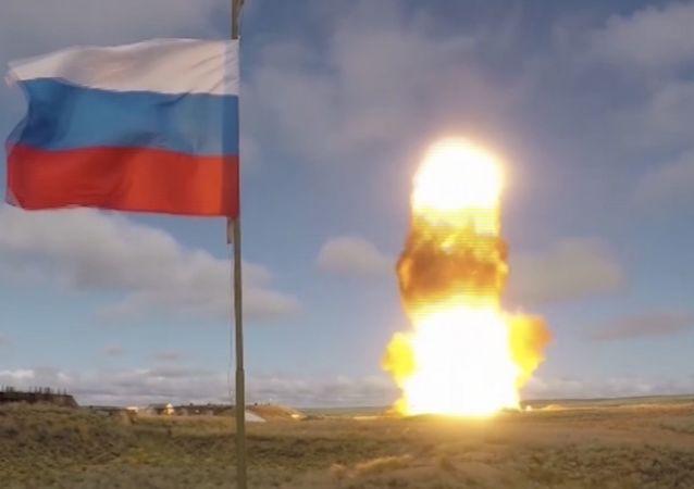 俄空天軍在哈薩克斯坦薩雷沙甘靶場成功測試了反導防禦系統新型導彈(資料圖片)