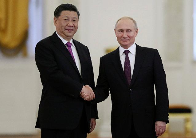 習近平致電普京表示中國將同俄羅斯一道捍衛二戰成果