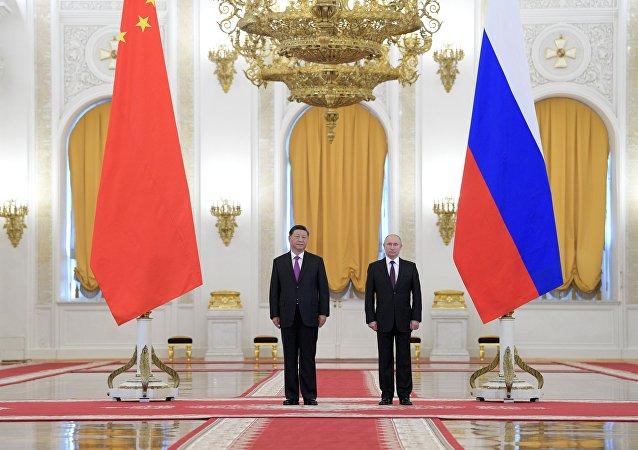 普京:俄中在全球關鍵問題上的立場一致