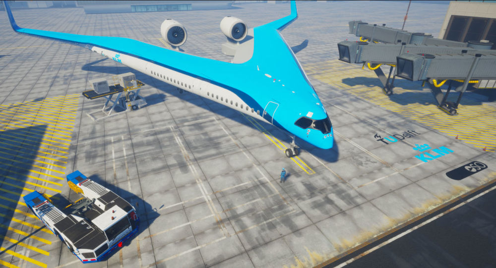荷蘭展示V形概念客機