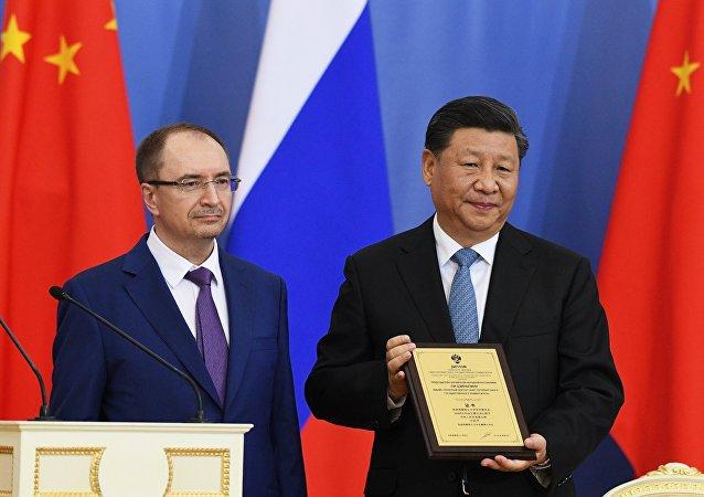 中國國家主席被授予聖彼得堡國立大學名譽博士學位