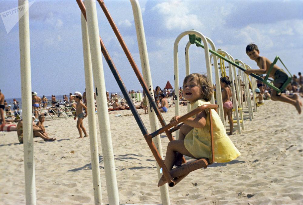 夏季,休假,沙灘