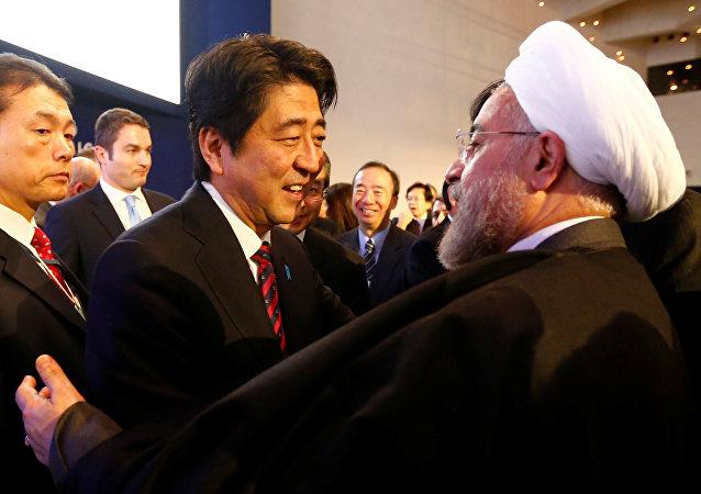 伊朗總統魯哈尼在結束對日本的訪問