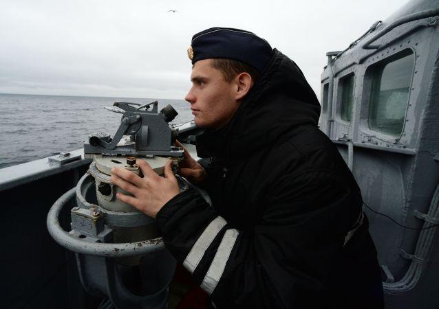 俄太平洋艦隊戰艦在日本海與假想敵交鋒