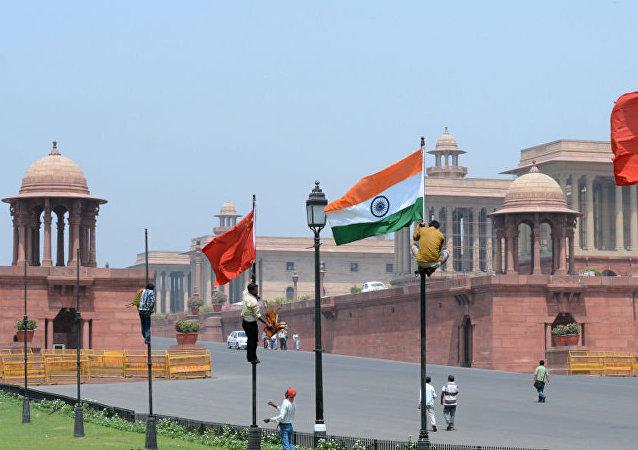 中國與印度國旗