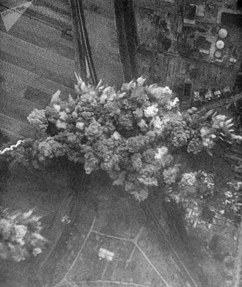1941年6月22日,德國飛機轟炸蘇聯城市。