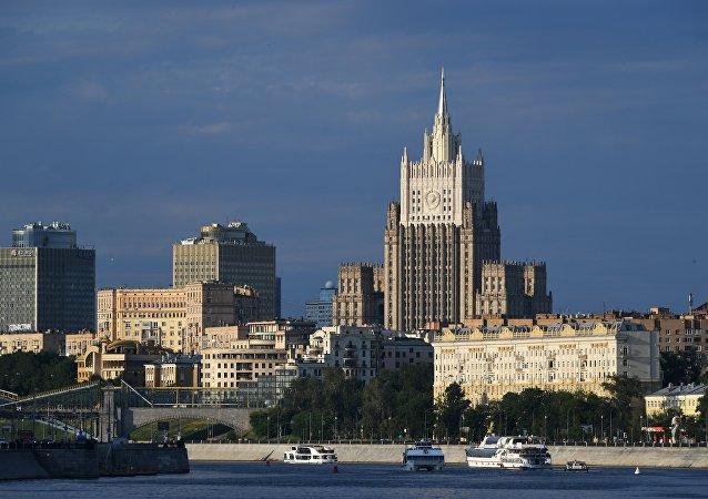 Здание МИД (министерство иностранных дел) в Москве.