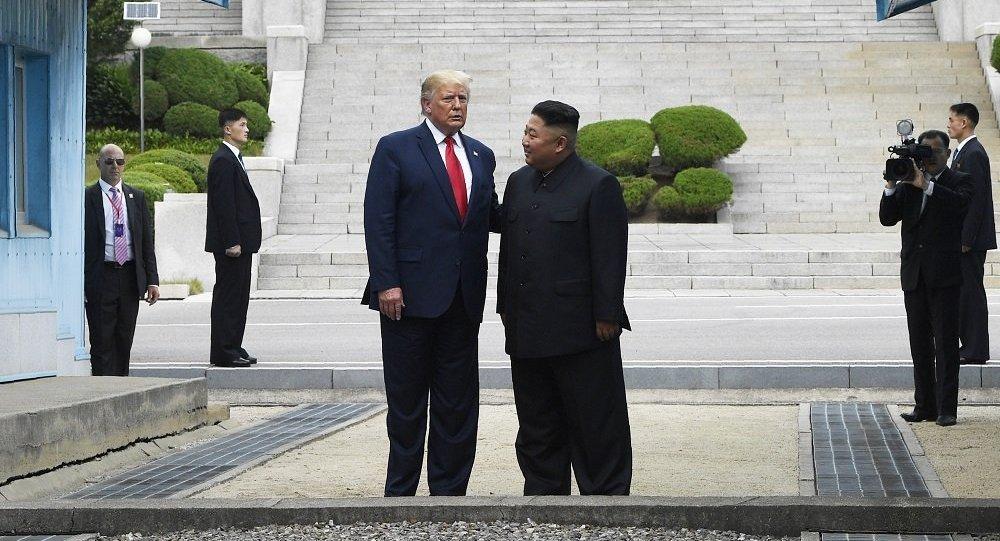 Встреча Дональда Трампа и Ким Чен Ына в Пханмунджоме, 30 июня 2019