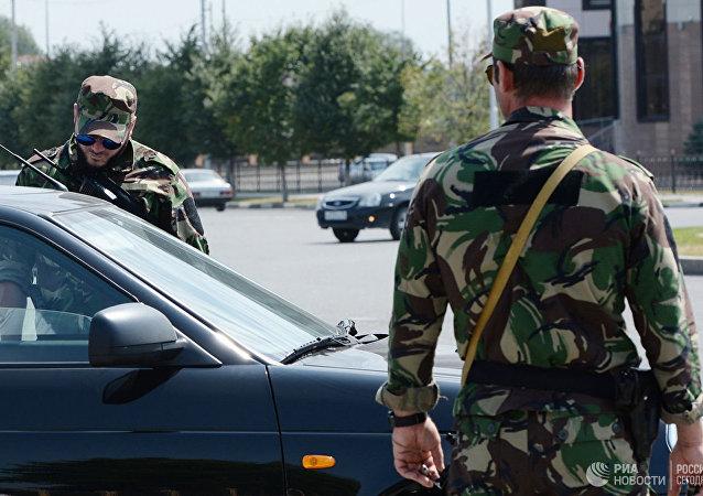 俄車臣境內一名持刀襲警的犯罪分子被消滅