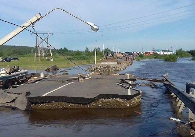 俄羅斯伊爾庫茨克州洪水造成18人遇難17人失蹤
