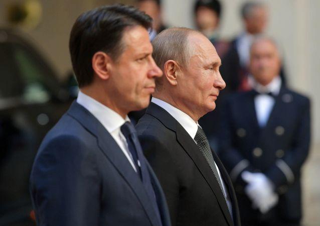 普京與孔特通電話互祝戰勝納粹75週年