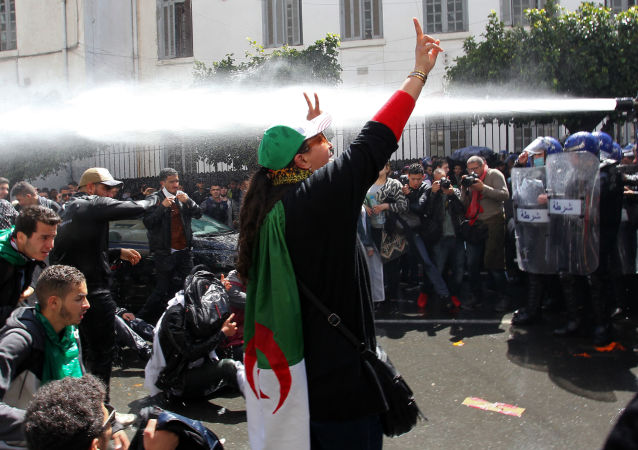 阿爾及利亞首都舉行大規模反政府抗議活動