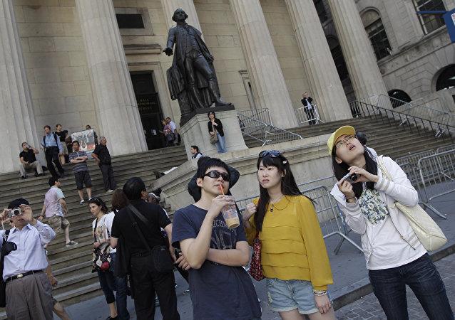 Китайские туристы в Нью-Йорке