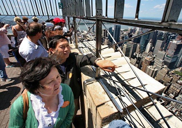 中國遊客在紐約
