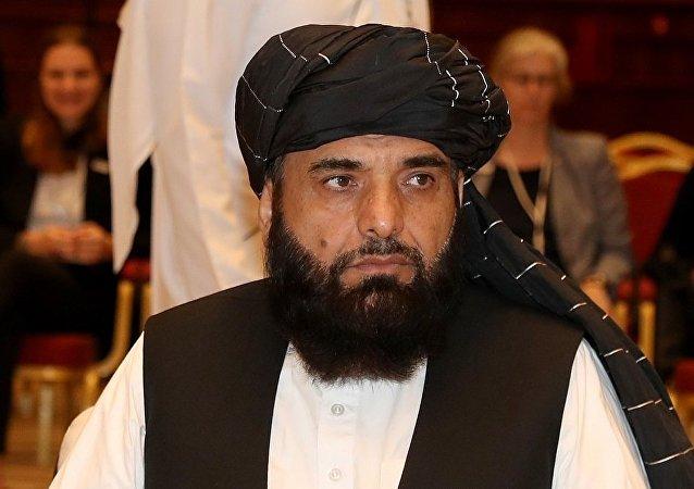 阿富汗塔利班運動駐多哈政治辦事處發言人沙欣(資料圖片)