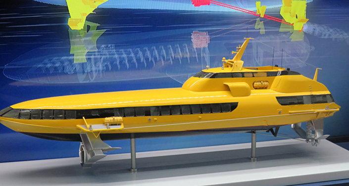 水翼船「彗星-120M」(模型)