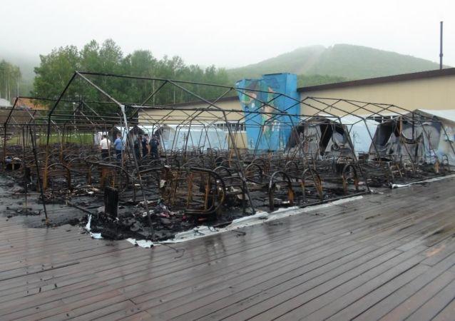 哈巴羅夫斯克政府:四名兒童在大火中喪生