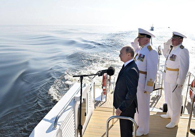 普京:俄海軍自信地保障國家安全 能夠對抗侵略者