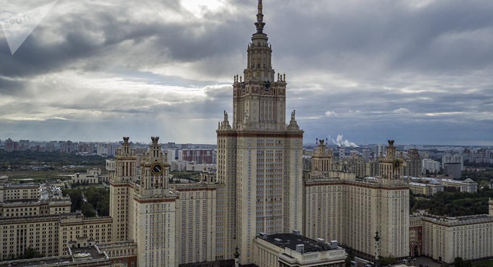 在麻雀山,莫斯科