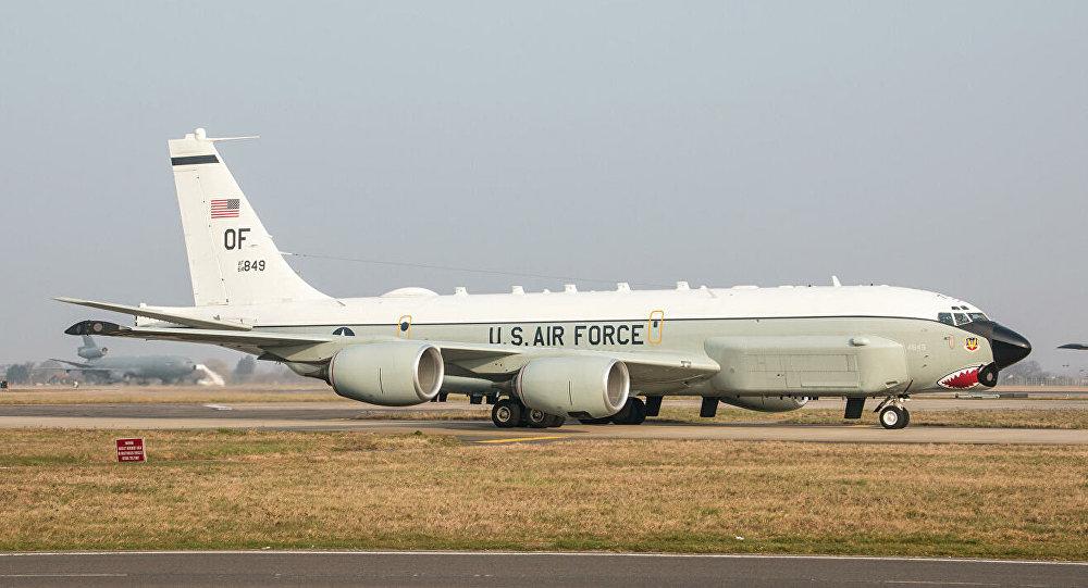媒體:美空軍一架RC-135U戰略偵察機27日上午逼近廣東海岸偵察