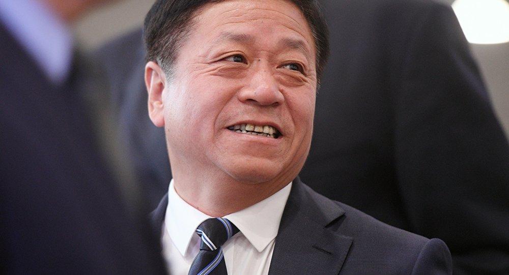 中國新任駐俄大使張漢暉向俄副外長遞交國書副本