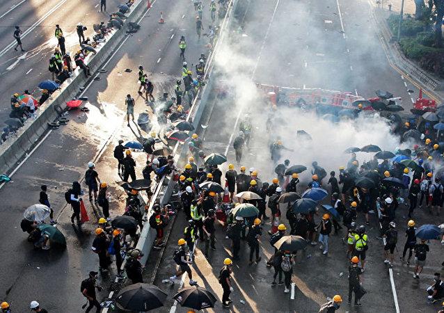 香港暴力事件導致兩岸關係惡化
