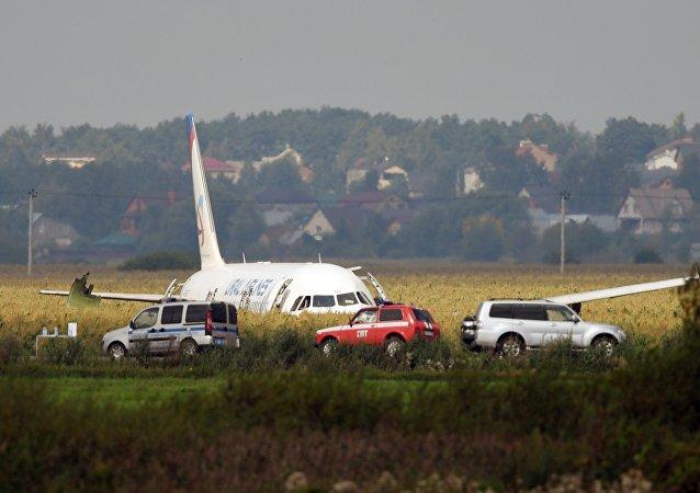 A321客機在莫斯科郊區硬著陸後共55人就醫