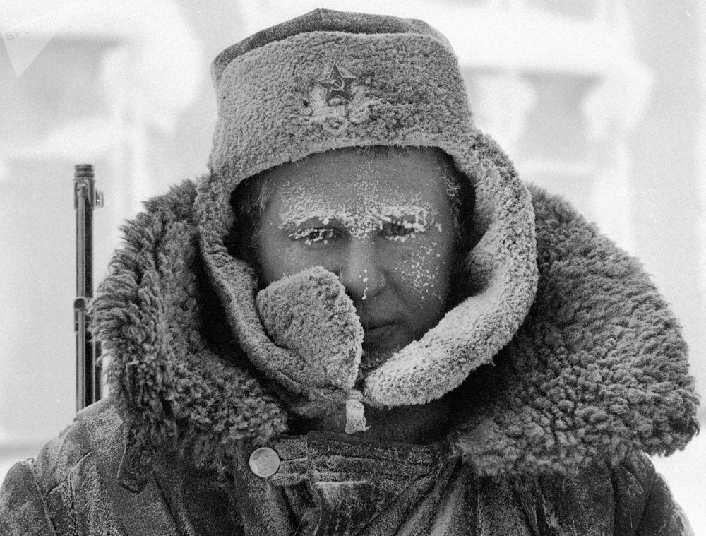 北極圈邊境的哨兵。1982年。