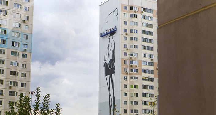 來自全世界20多個國家的60位藝術家在不到一個月的時間內,把高層住宅的正面外牆都畫上了畫
