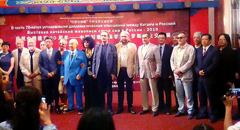 中國寫意油畫學派俄羅斯寫生交流展在莫斯科文化中心開幕