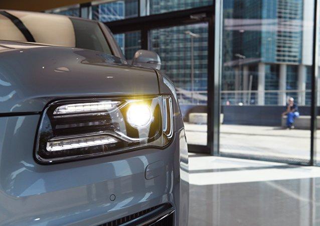 俄Aurus牌汽車在上海展會上引起極大興趣