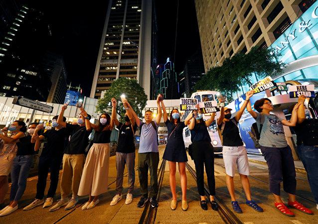 香港中學生在新學期第一天罷課