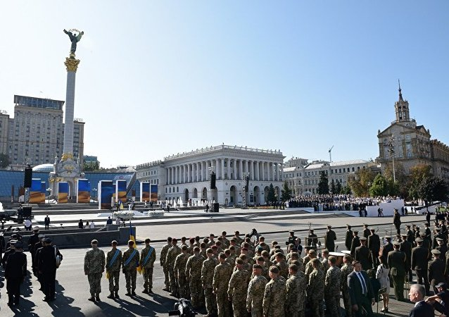 烏克蘭前總統沒有出席基輔舉行的烏克蘭獨立日慶祝活動