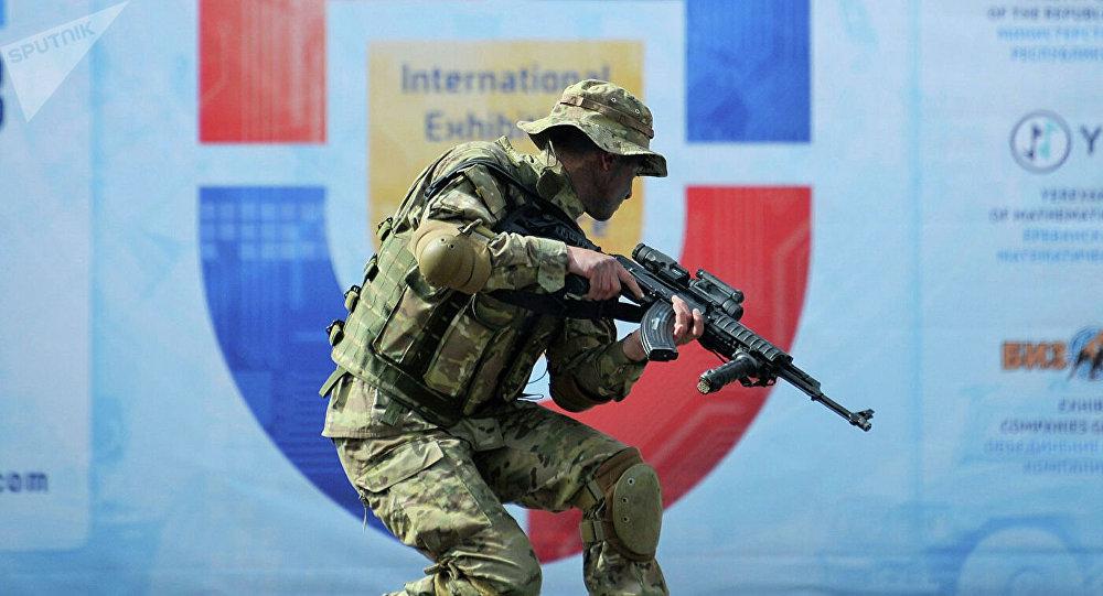 Военнослужащий войск специального назначения Вооруженных сил Армении.