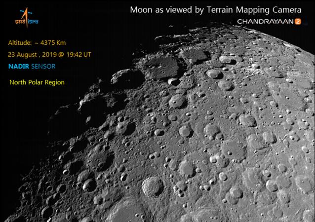 印度公佈「月船-2」探測器拍攝的月球環形山照片