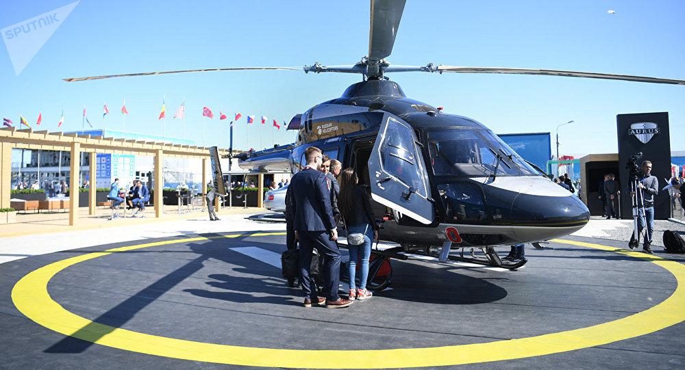 擁有「Aurus」座艙的「Ansat」直升機亮相莫斯科航空展