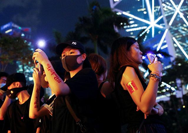 香港抗議者稱警方實施性侵