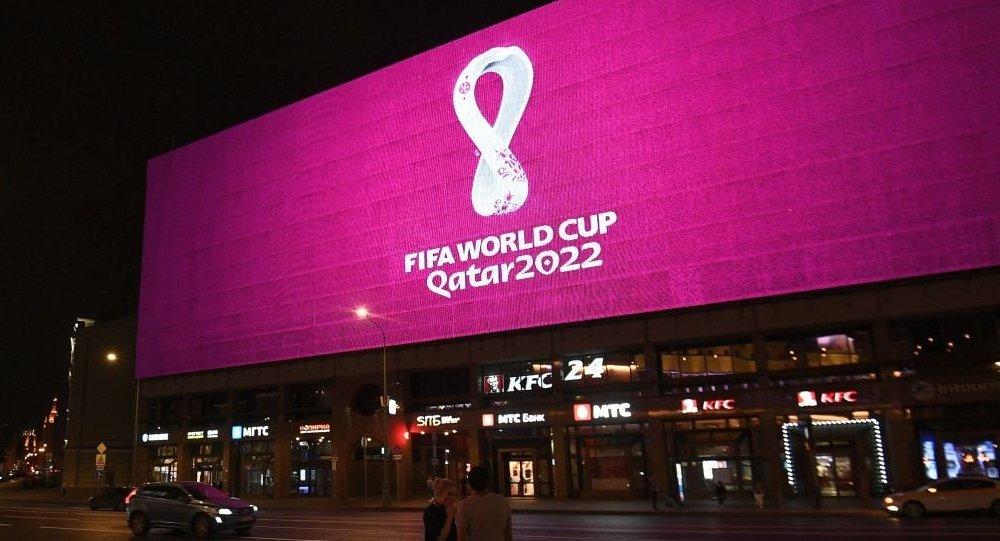 2022年世界杯官方標誌揭曉:酒紅底色 悅動的白色「8」字