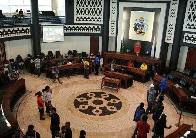 所羅門群島首都霍尼亞拉的議會