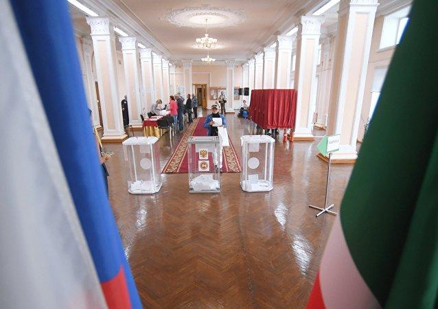 莫斯科市杜馬選舉投票站關閉