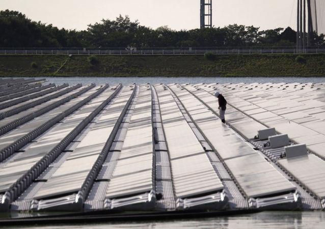 日本最大太陽能發電站山倉水庫