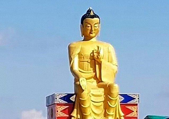 歐洲最大彌勒佛像揭幕儀式在俄羅斯卡爾梅克共和國舉行