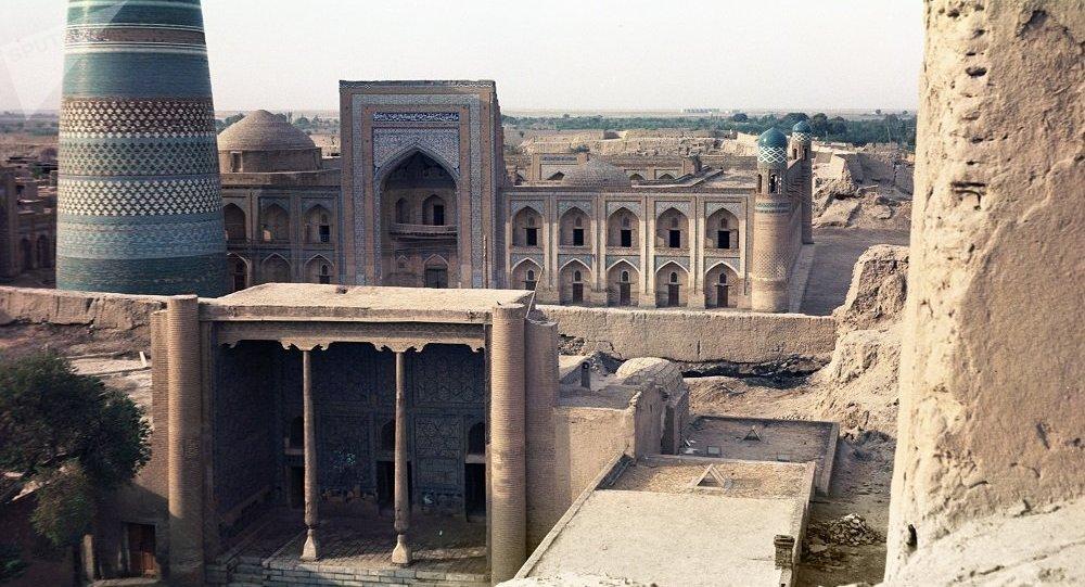清真寺高塔 ,希瓦,烏茲別克斯坦