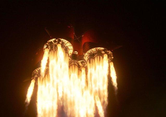 聯盟-FG號火箭搭載聯盟MS-15號飛船從拜科努爾航天發射場升空