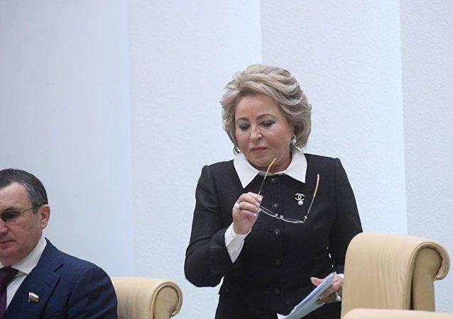 俄羅斯聯邦委員會主席馬特維延科(資料圖片)