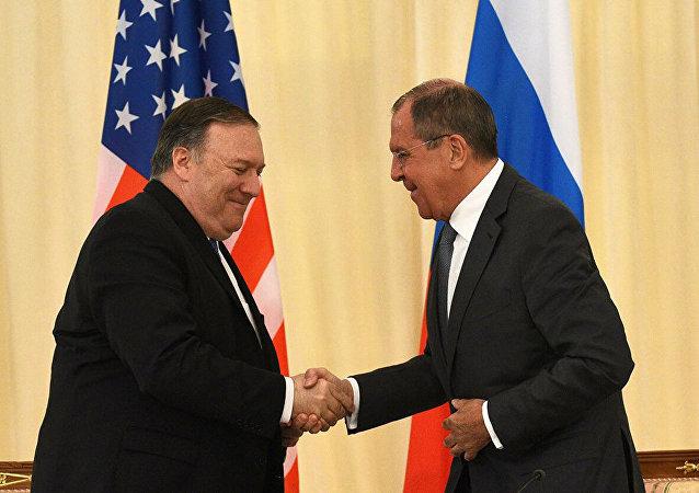 拉夫羅夫與蓬佩奧在紐約聯大上會晤