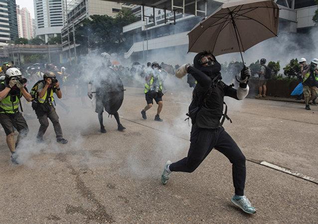 香港警方強烈譴責暴力破壞行為