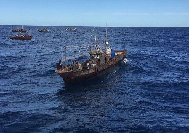 俄邊防人員在濱海邊疆區再拘留87名朝鮮盜漁者