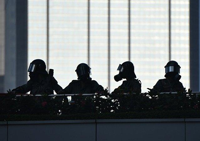 香港警方否認「攻入」香港理工大學