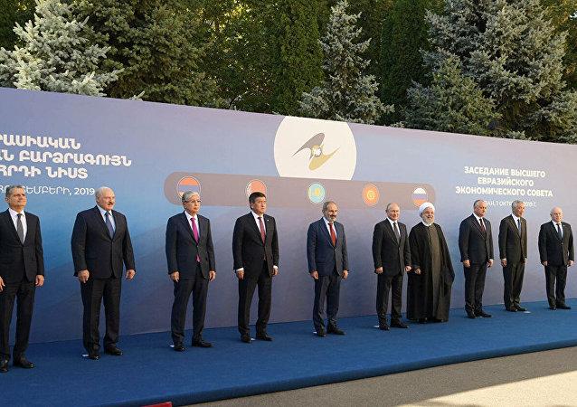 歐亞經濟聯盟峰會在埃里溫(資料圖片)